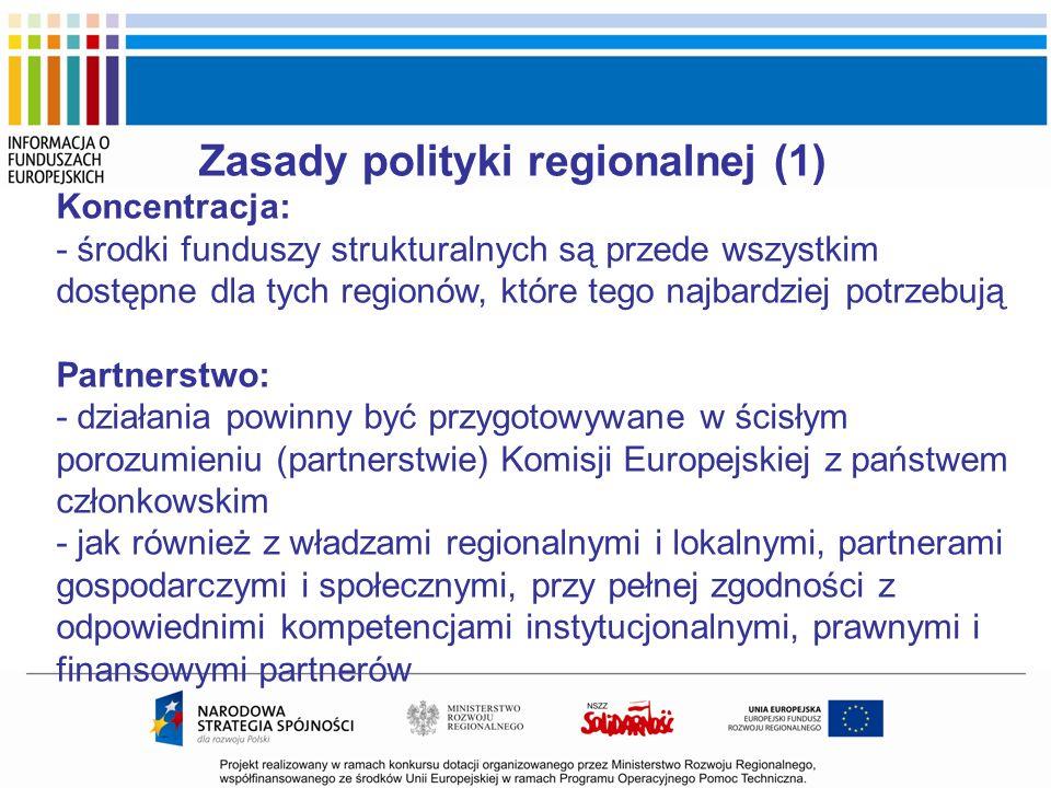 Zasady polityki regionalnej (1)