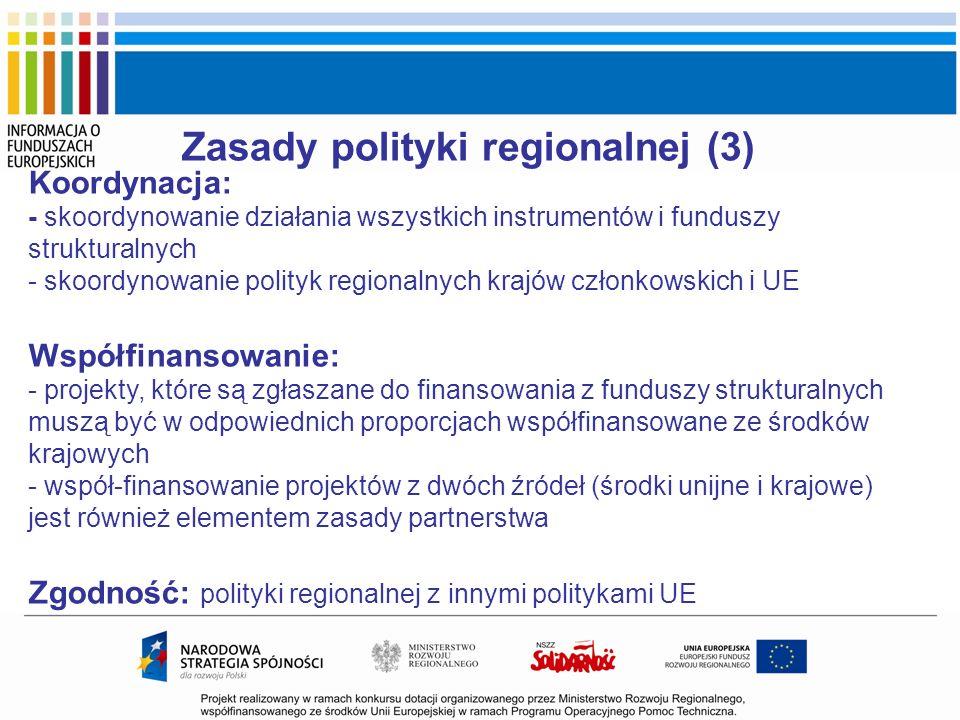 Zasady polityki regionalnej (3)
