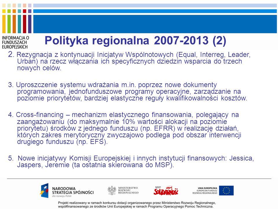 Polityka regionalna 2007-2013 (2)