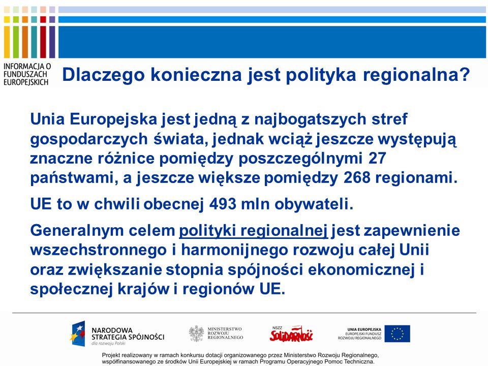Dlaczego konieczna jest polityka regionalna