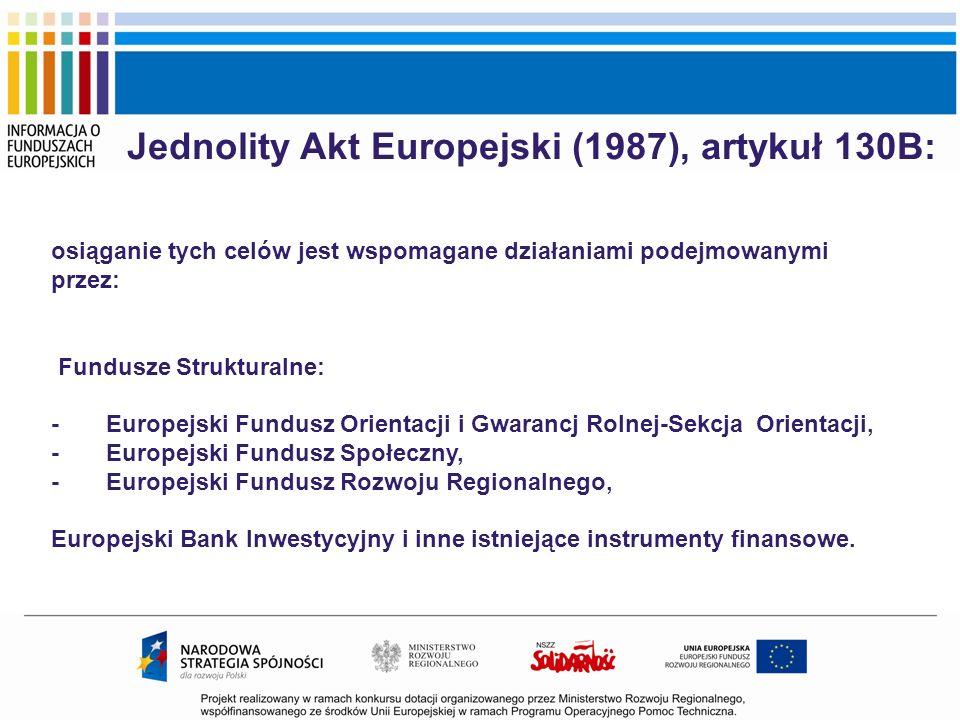 Jednolity Akt Europejski (1987), artykuł 130B: