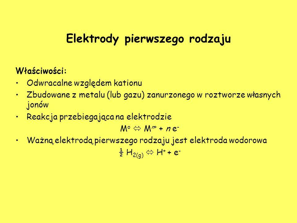 Elektrody pierwszego rodzaju