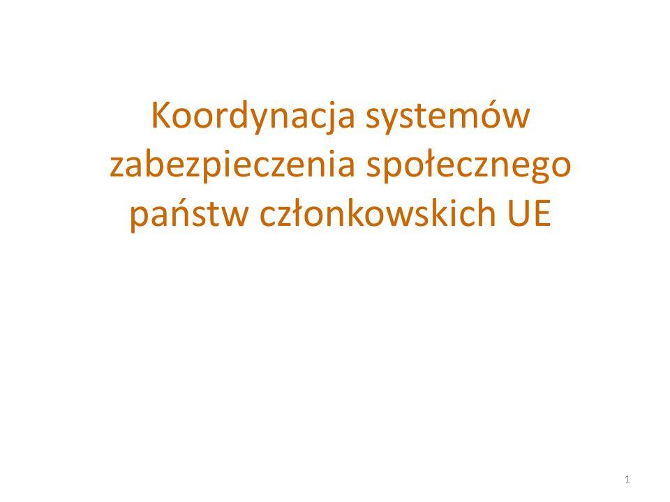 Koordynacja systemów zabezpieczenia społecznego państw członkowskich UE