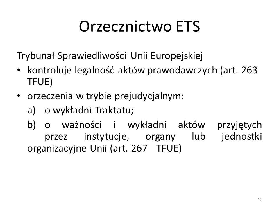 Orzecznictwo ETS Trybunał Sprawiedliwości Unii Europejskiej