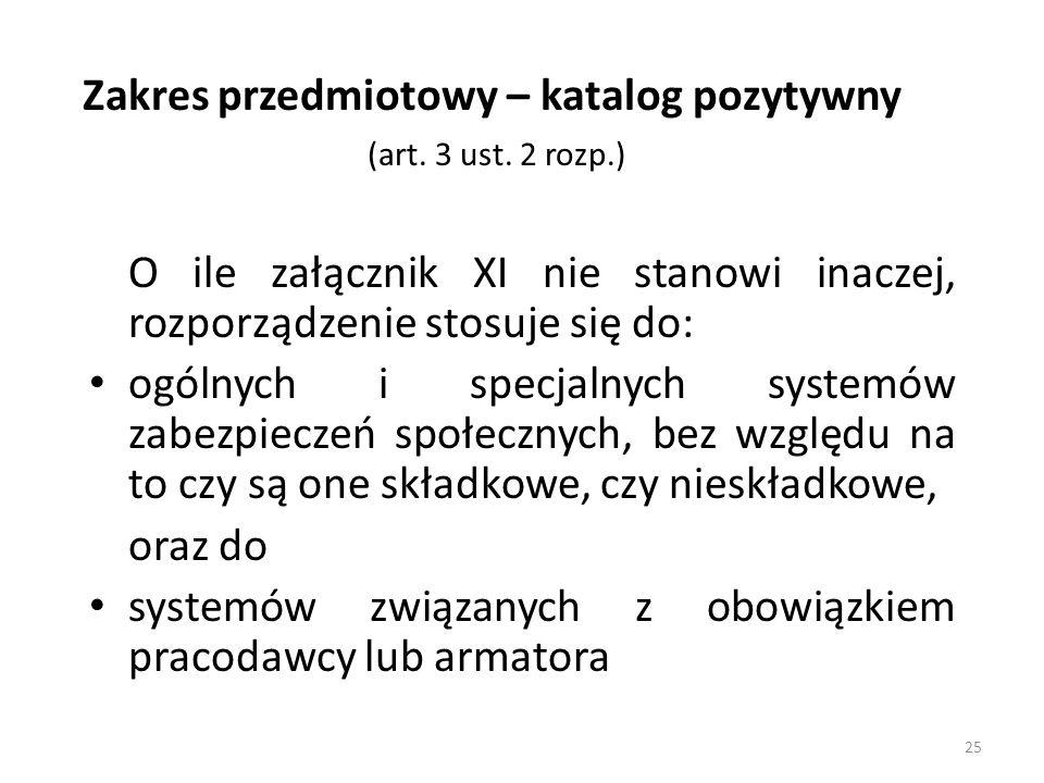 Zakres przedmiotowy – katalog pozytywny (art. 3 ust. 2 rozp.)