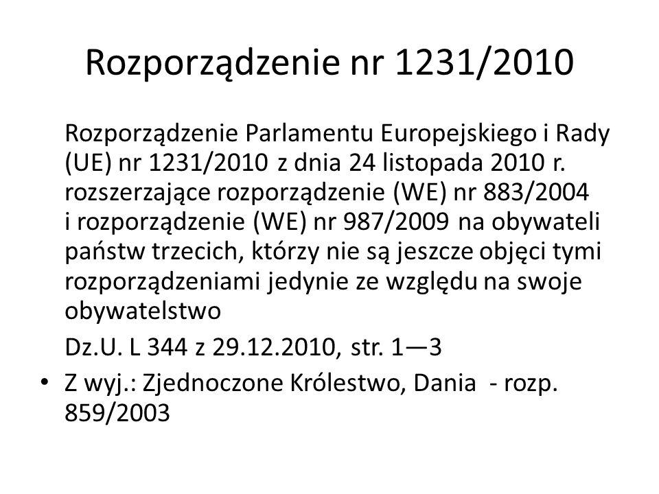 Rozporządzenie nr 1231/2010