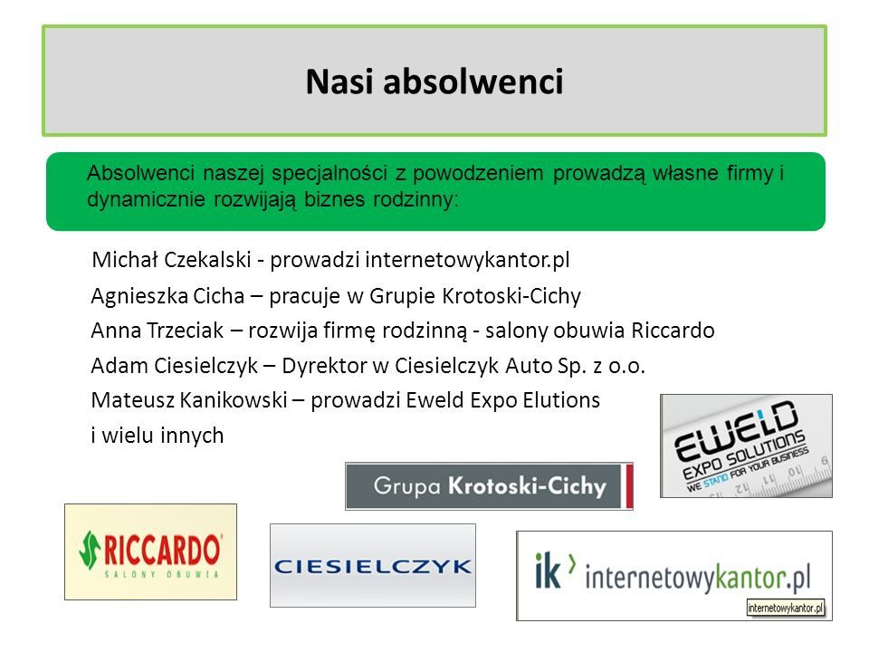 Nasi absolwenci Michał Czekalski - prowadzi internetowykantor.pl