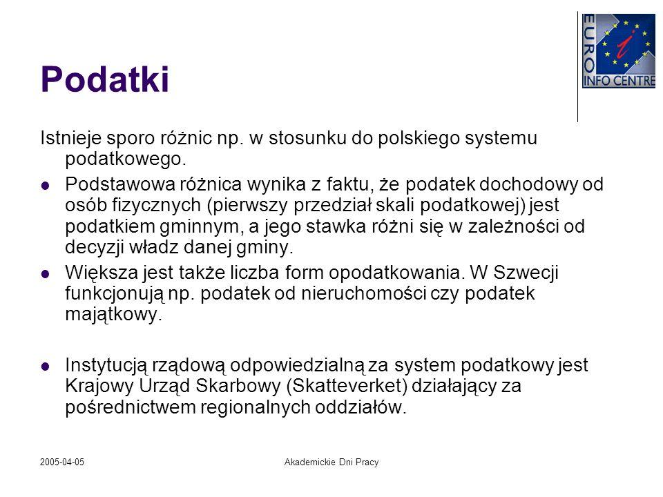 PodatkiIstnieje sporo różnic np. w stosunku do polskiego systemu podatkowego.