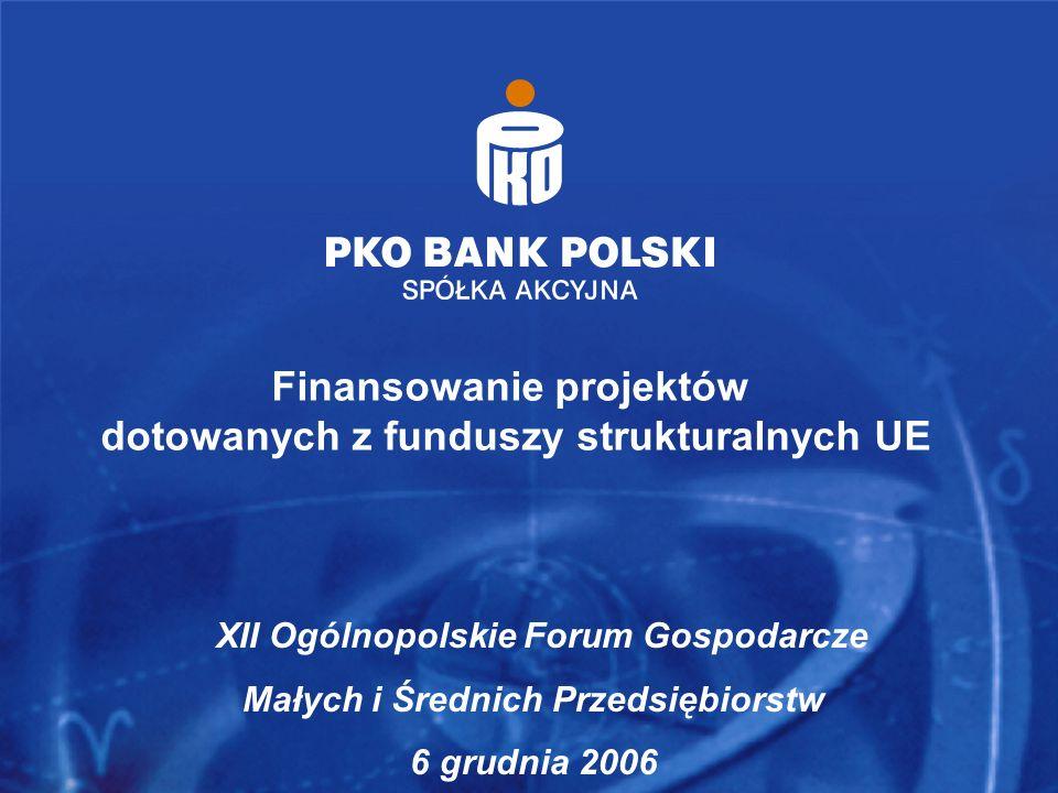 Finansowanie projektów dotowanych z funduszy strukturalnych UE
