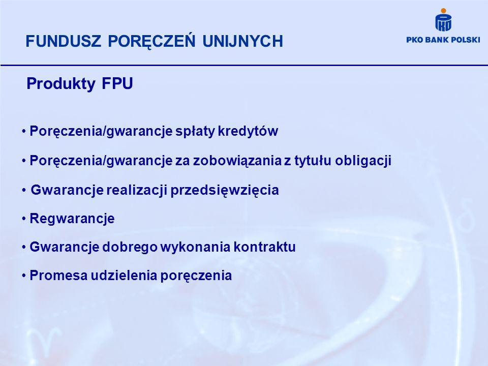 Produkty FPU FUNDUSZ PORĘCZEŃ UNIJNYCH