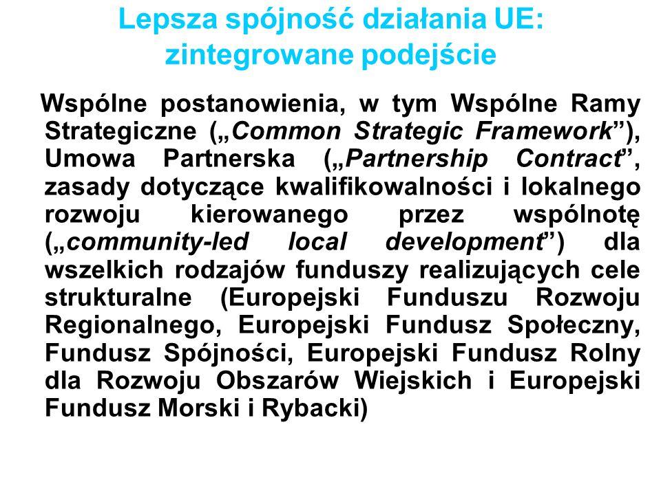 Lepsza spójność działania UE: zintegrowane podejście
