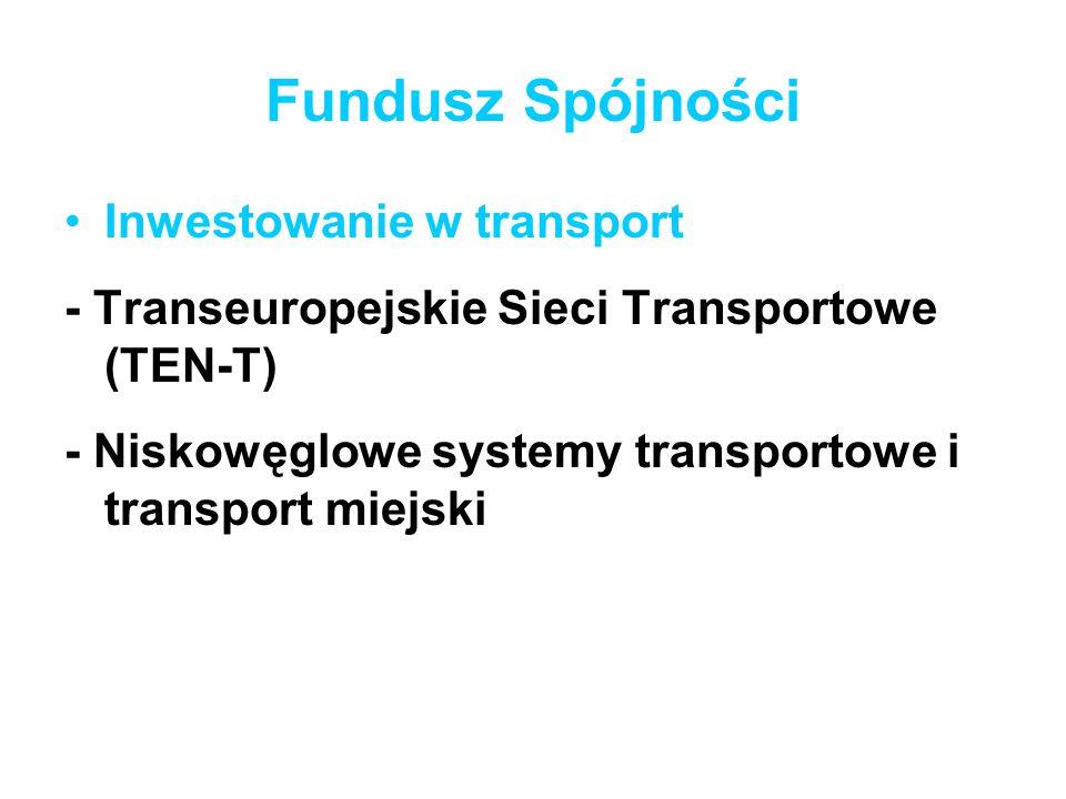 Fundusz Spójności Inwestowanie w transport