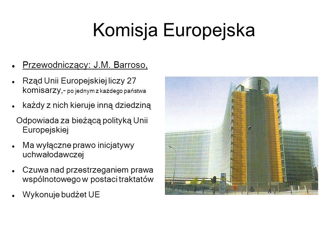 Komisja Europejska Przewodniczący: J.M. Barroso,