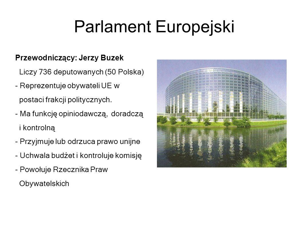 Parlament Europejski Przewodniczący: Jerzy Buzek