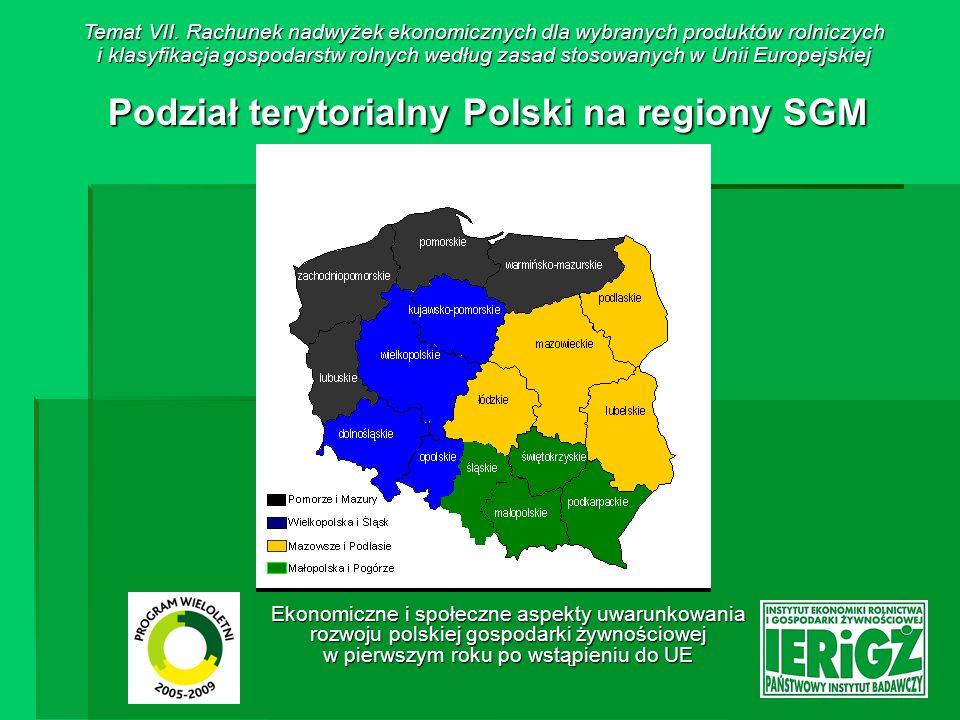 Podział terytorialny Polski na regiony SGM