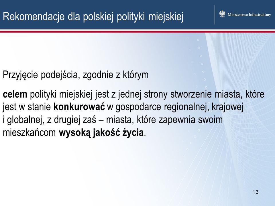 Rekomendacje dla polskiej polityki miejskiej