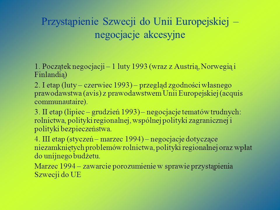 Przystąpienie Szwecji do Unii Europejskiej – negocjacje akcesyjne