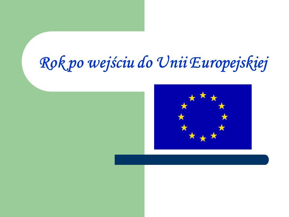 Rok po wejściu do Unii Europejskiej