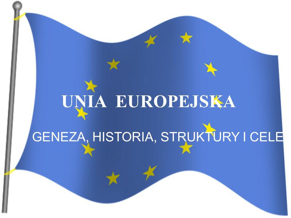 UNIA EUROPEJSKA GENEZA, HISTORIA, STRUKTURY I CELE