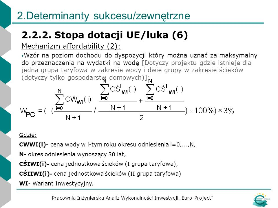 2.Determinanty sukcesu/zewnętrzne