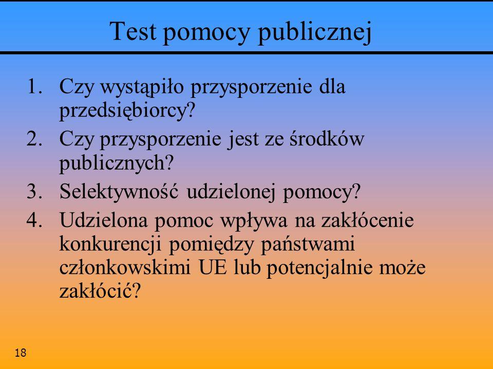 Test pomocy publicznej