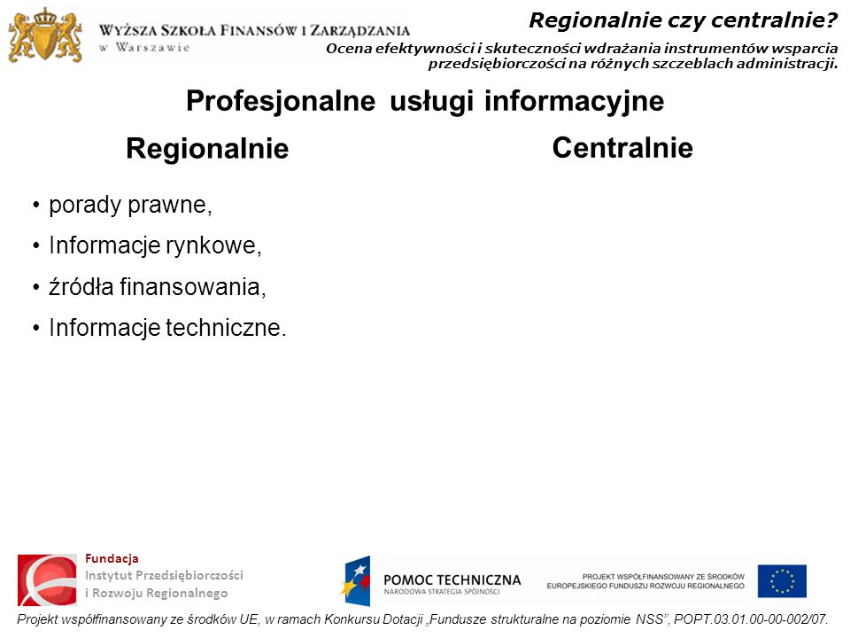 Profesjonalne usługi informacyjne