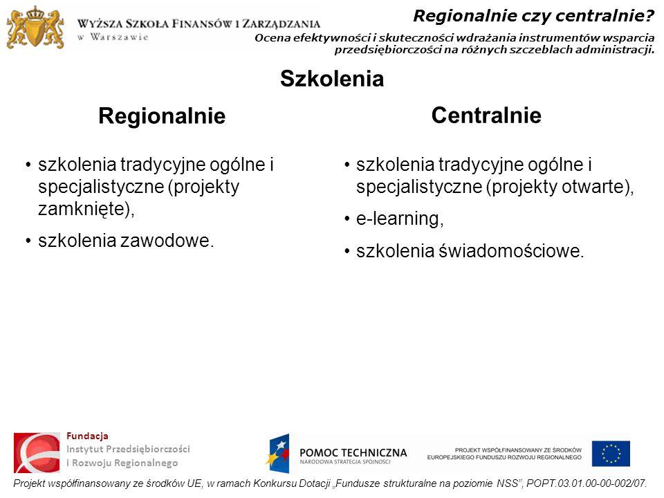 Szkolenia Regionalnie Centralnie