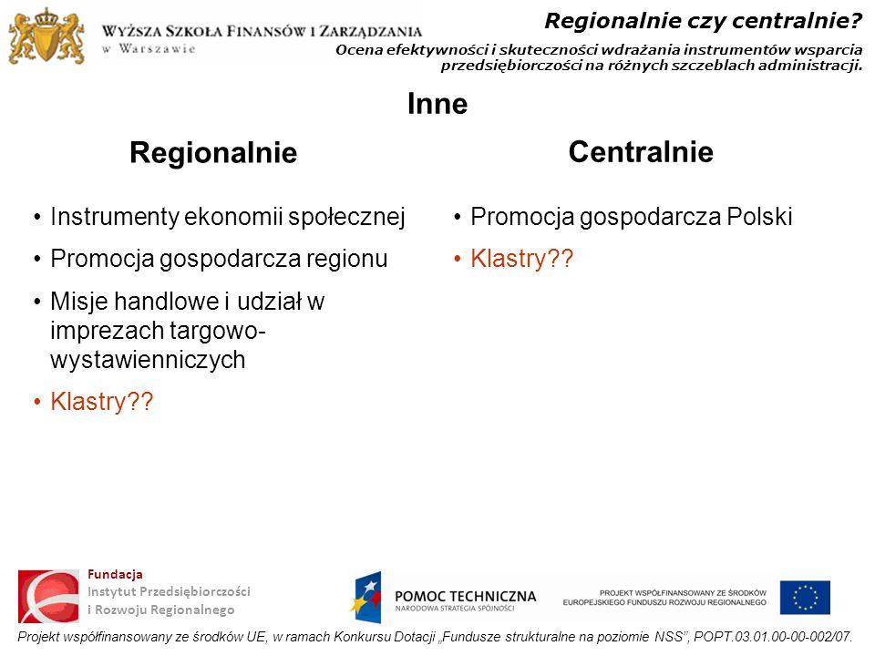 Inne Regionalnie Centralnie
