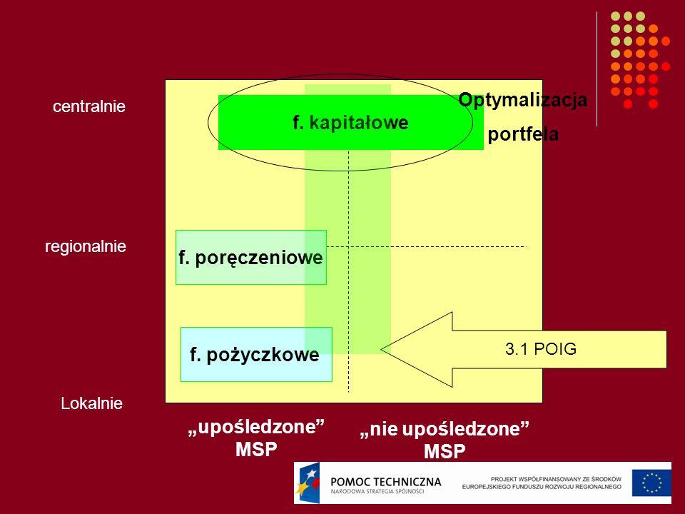 Optymalizacja portfela f. kapitałowe f. poręczeniowe f. pożyczkowe