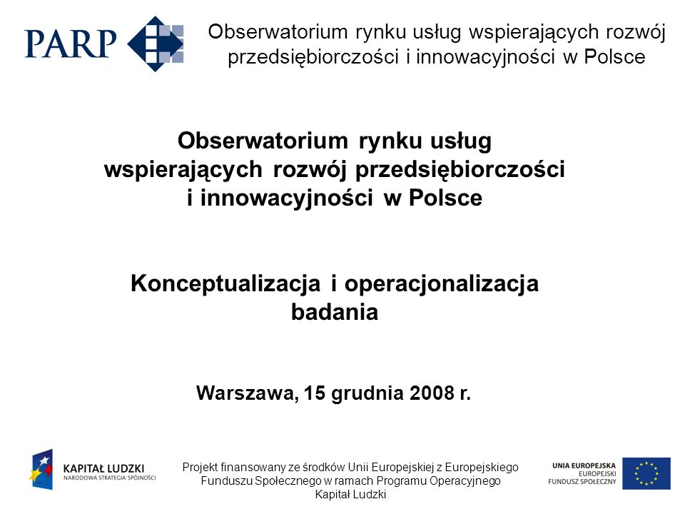 Konceptualizacja i operacjonalizacja badania