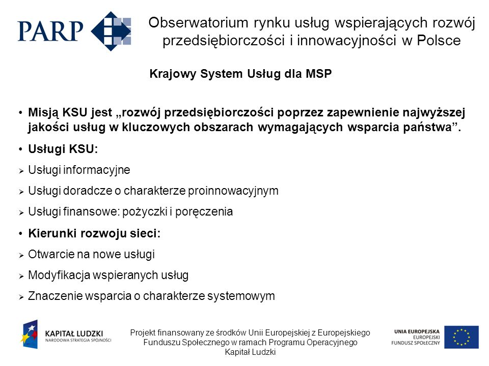 Krajowy System Usług dla MSP