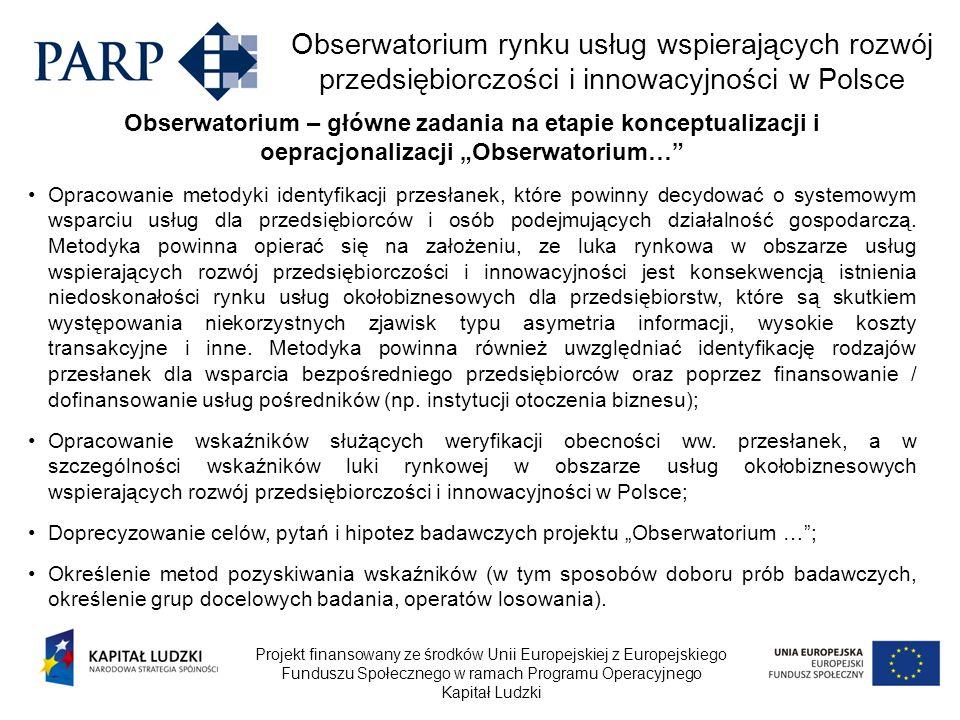 """Obserwatorium – główne zadania na etapie konceptualizacji i oepracjonalizacji """"Obserwatorium…"""