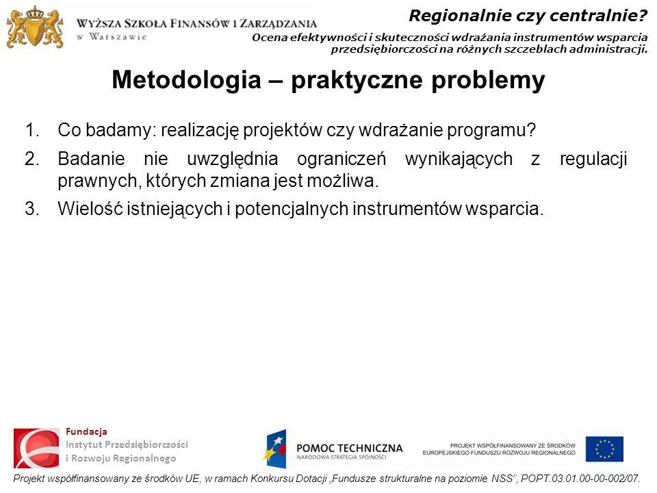 Metodologia – praktyczne problemy