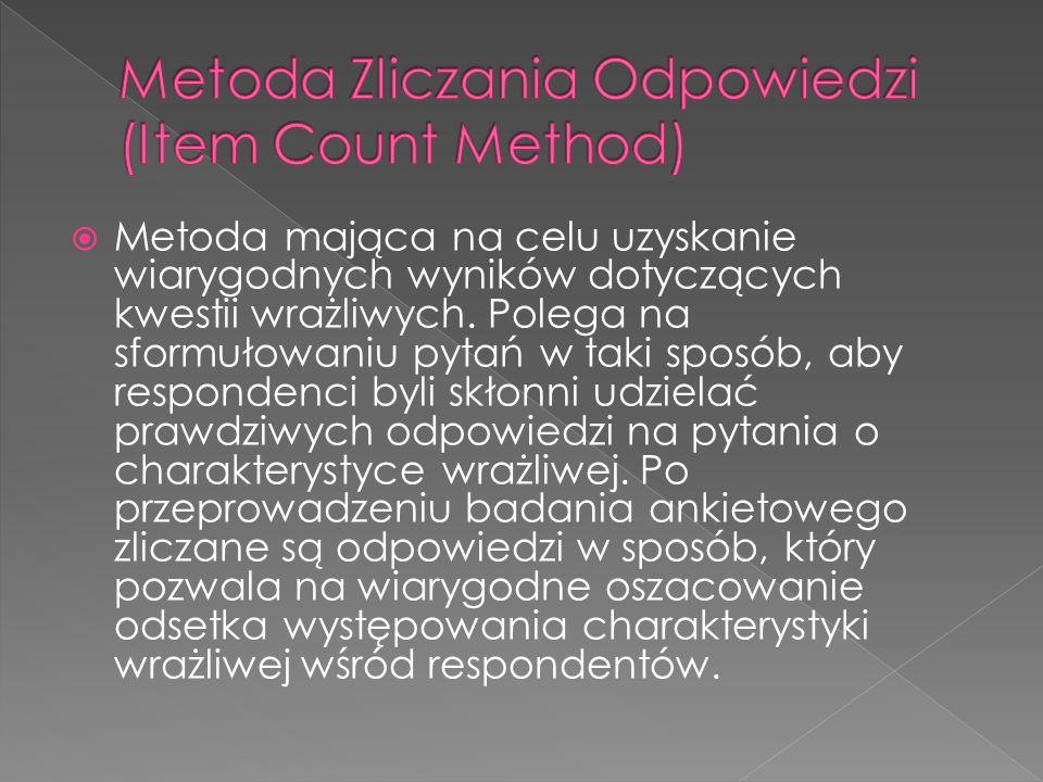 Metoda Zliczania Odpowiedzi (Item Count Method)