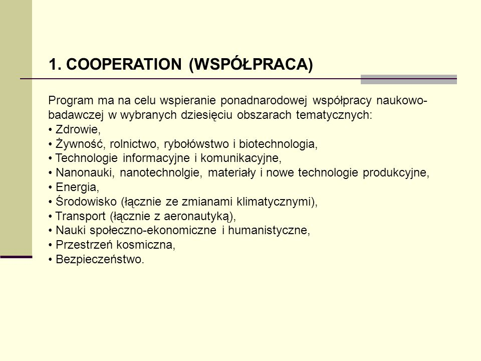 1. COOPERATION (WSPÓŁPRACA)