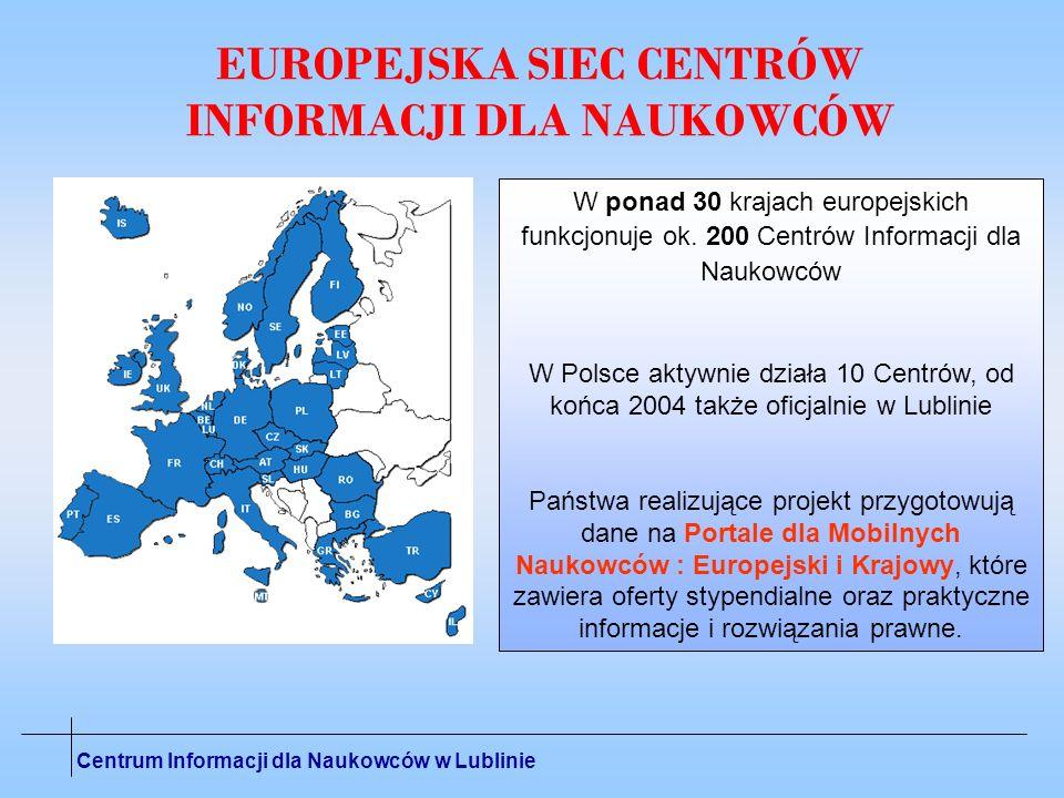 EUROPEJSKA SIEC CENTRÓW INFORMACJI DLA NAUKOWCÓW