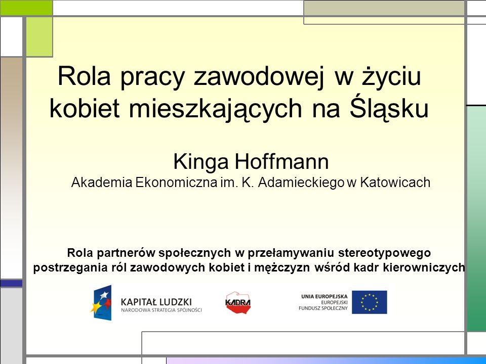 Rola pracy zawodowej w życiu kobiet mieszkających na Śląsku