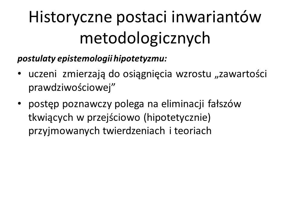 Historyczne postaci inwariantów metodologicznych