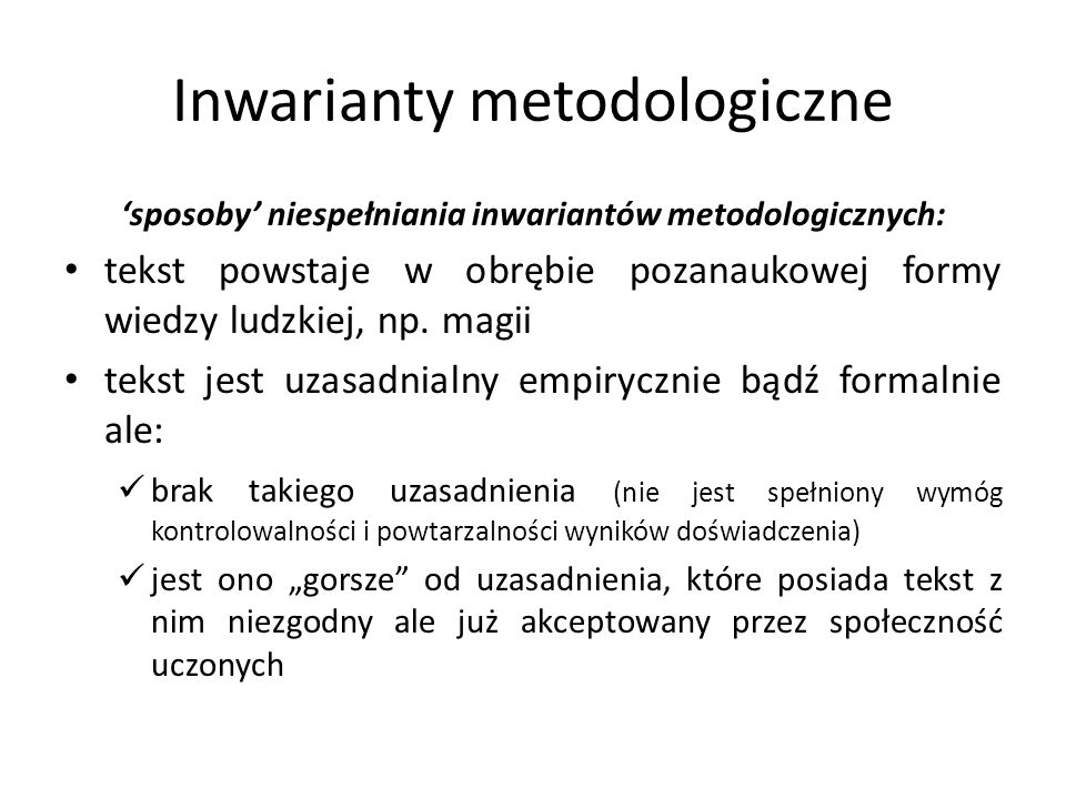 Inwarianty metodologiczne