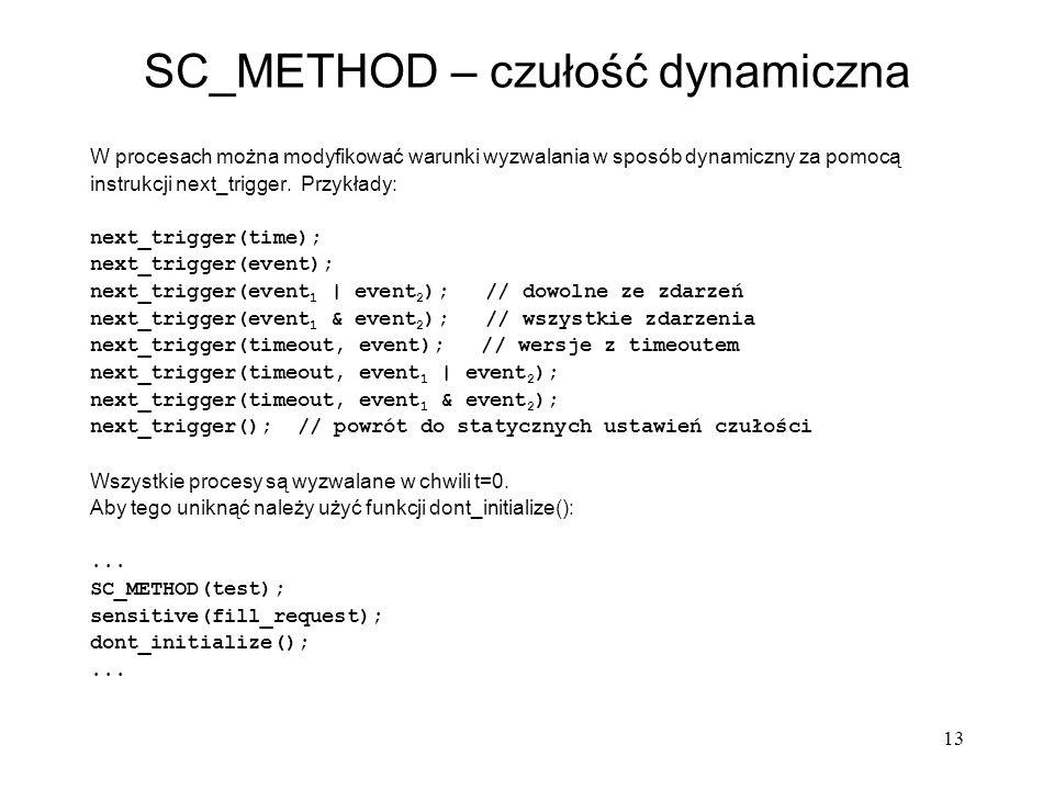 SC_METHOD – czułość dynamiczna