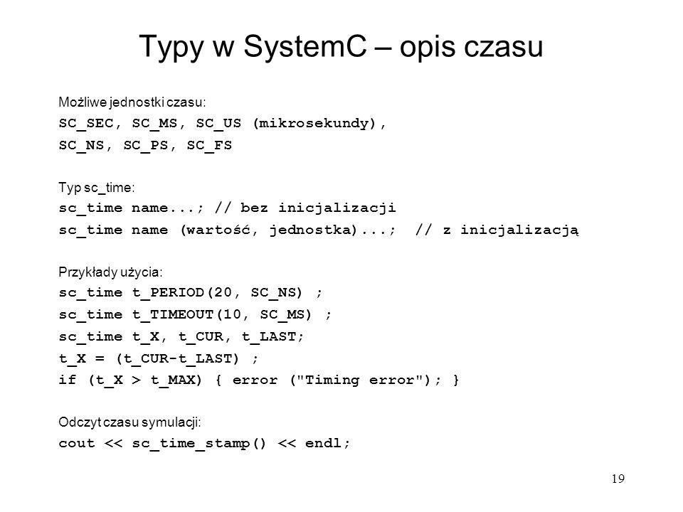 Typy w SystemC – opis czasu