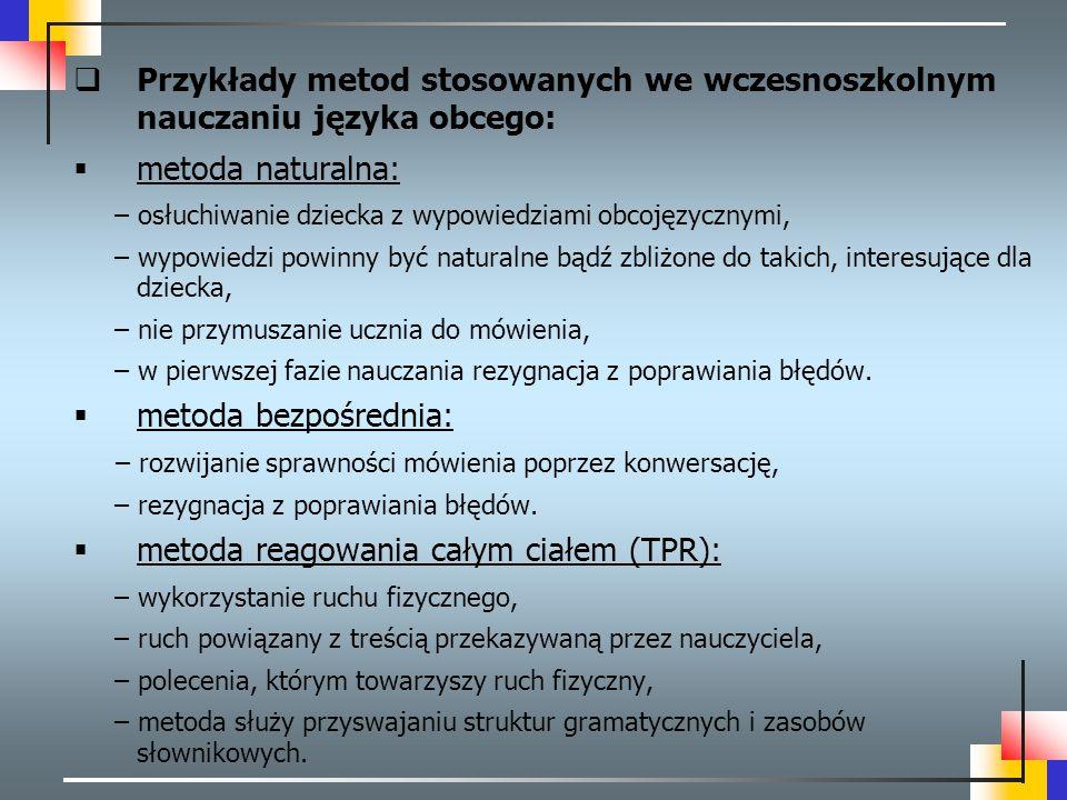 metoda reagowania całym ciałem (TPR):