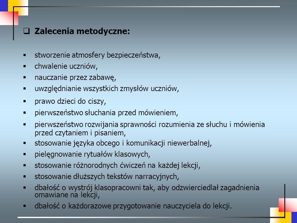 Zalecenia metodyczne: