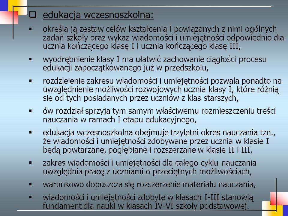 edukacja wczesnoszkolna: