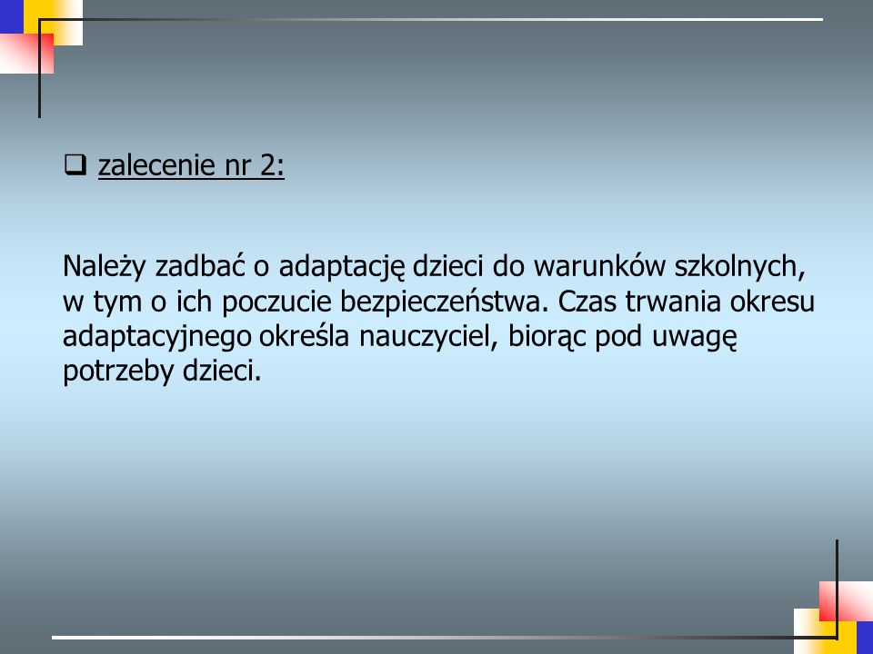 zalecenie nr 2: