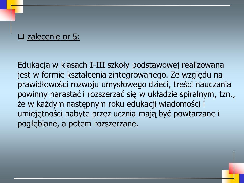 zalecenie nr 5: