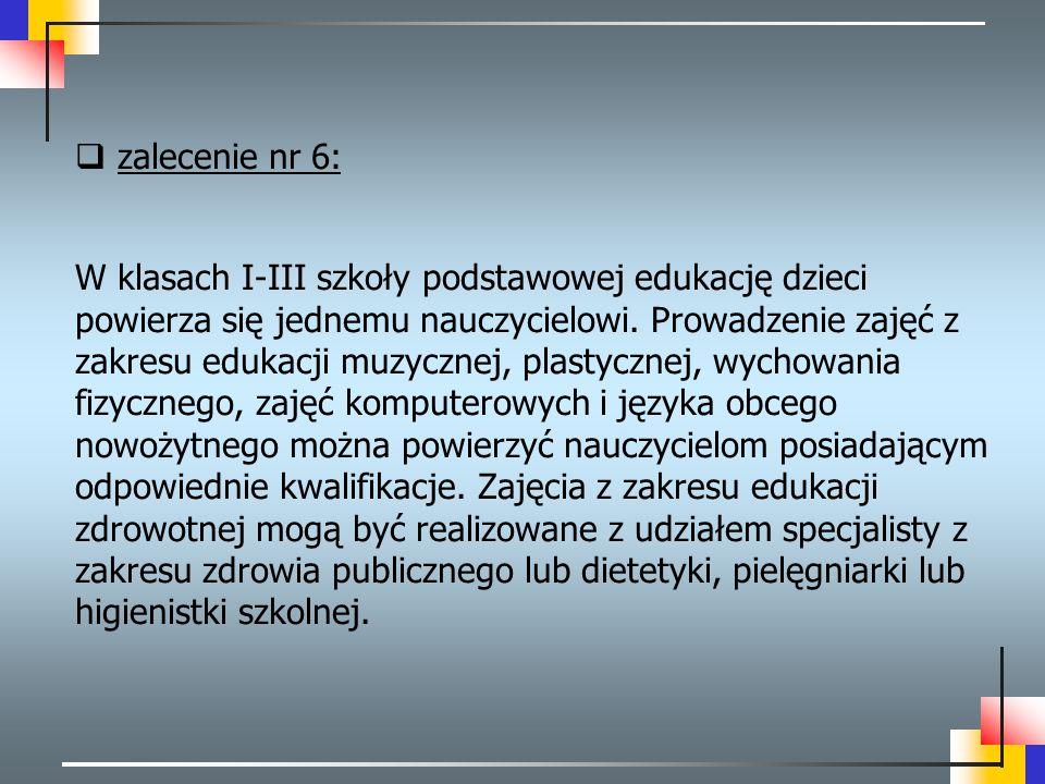 zalecenie nr 6: