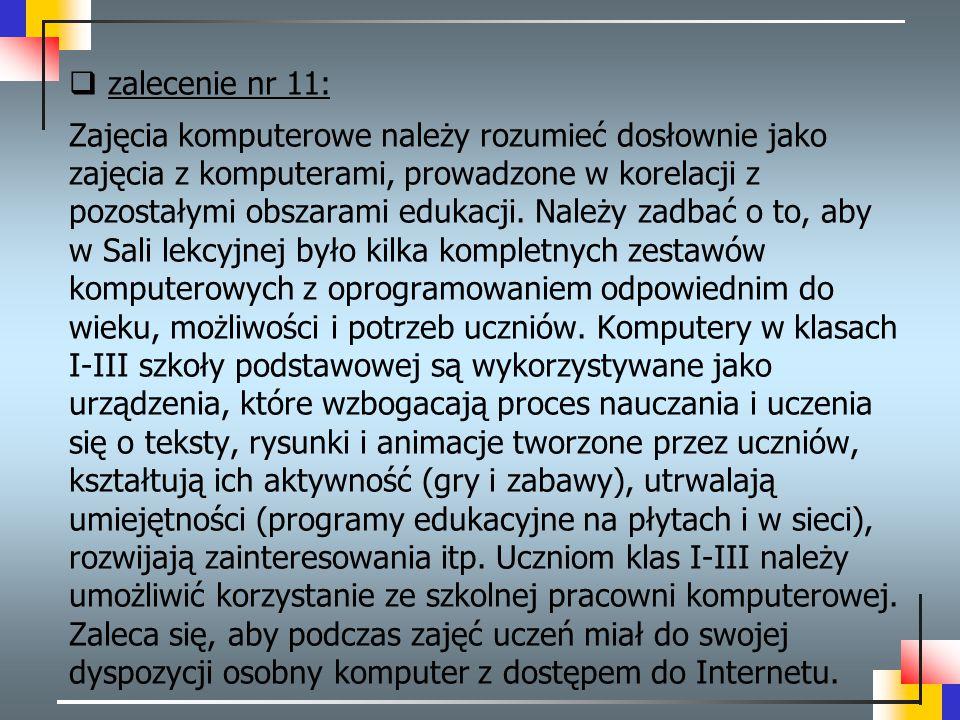 zalecenie nr 11: