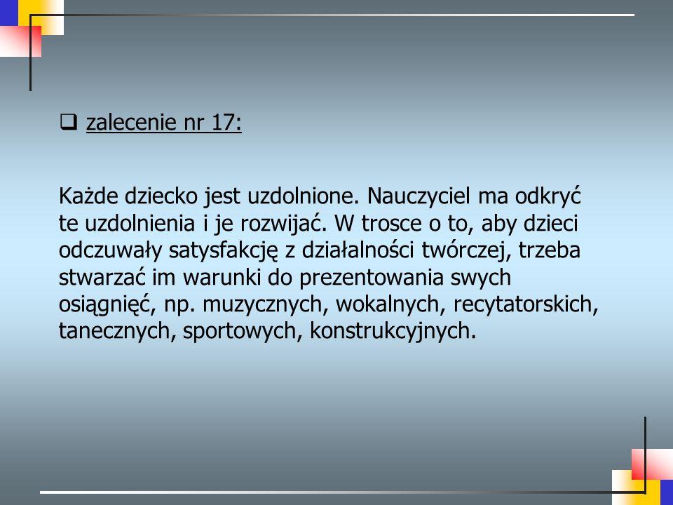 zalecenie nr 17: