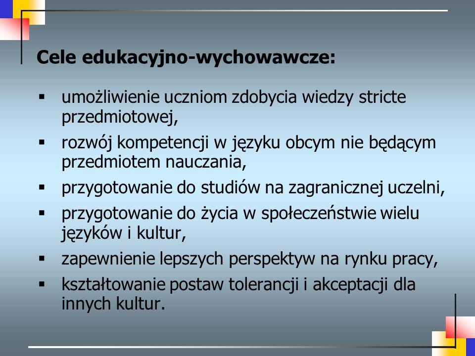 Cele edukacyjno-wychowawcze: